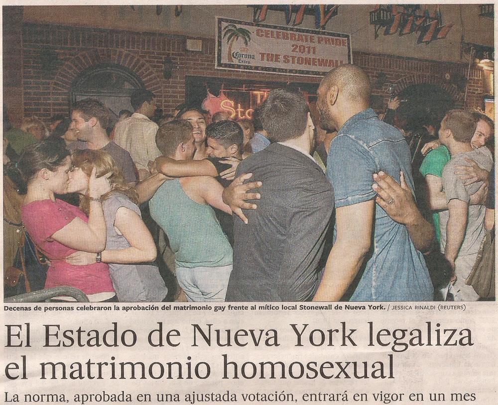 El matrimonio gay del estado de Nueva York
